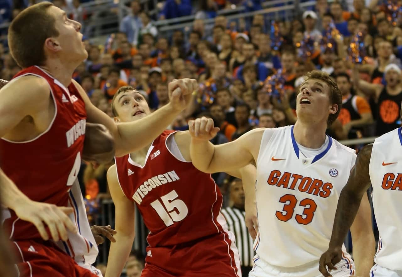 Senior forward Erik Murphy is averaging 4.8 rebounds per game this season for Florida. / Gator Country photo by John Parady
