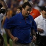 Florida coach Will Muschamp has the Gators on the verge of their first BCS bowl game win in three years after consecutive seasons of at least five losses. / Gator Country photo by Wes Hall