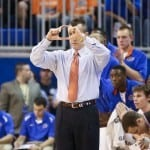 Billy Donovan and the Gators open SEC play against South Carolina tonight at the O-Dome / Gator Country file photo by Curtiss Bryant