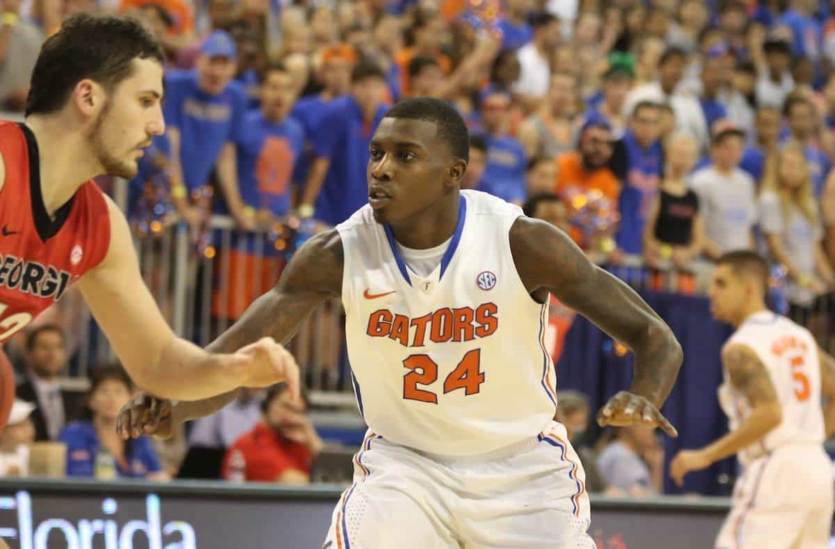 Florida's Casey Prather injured his ankle during a 32-point win at LSU on Saturday. / Gator Country file photo by Curtiss Bryant