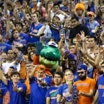 Gators fans cheer in the student section of the O'Connell Center during Florida's 77-44 win against Georgia on Jan. 9. / Gator Country photo by Curtiss Bryant