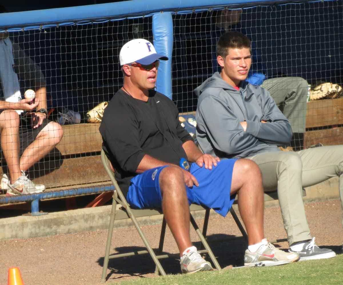 Florida coach Kevin O'Sullivan is entering his seventh season at UF. / Gator Country photo by Mike Capshaw