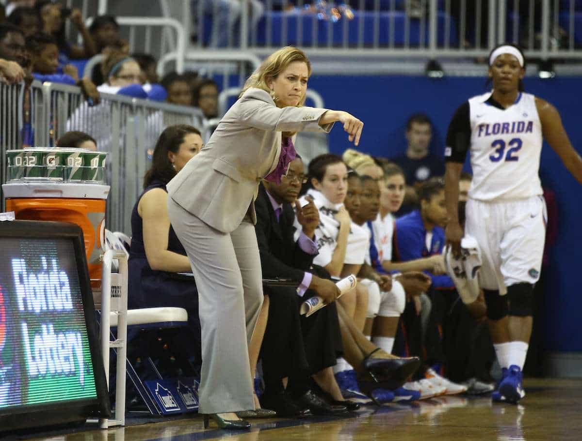 Florida Gators women's basketball coach Amanda Butler