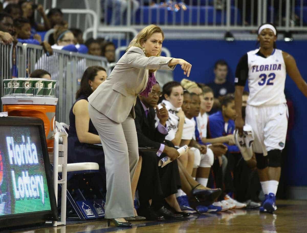 Florida Gators women's basketball coach Amanda Butler