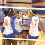 Florida's volleyball team / Gator Country photo by Curtiss Bryant