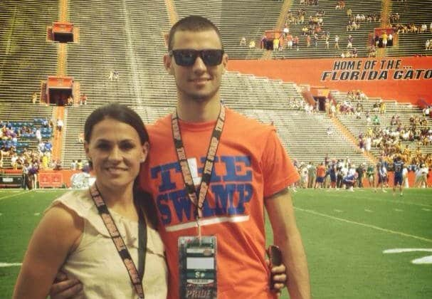 Florida Gators quarterback commitment Will Grier, pictured with his mother, passed for 5,785 yards this year and 69 touchdowns. / Photo provided