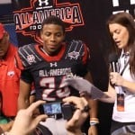 Florida cornerback commitment Vernon Hargreaves III collected MVP honors at the Under Armour All-America Game after making five tackles and intercepting a pass. / Gator Country photo by Curtiss Bryant