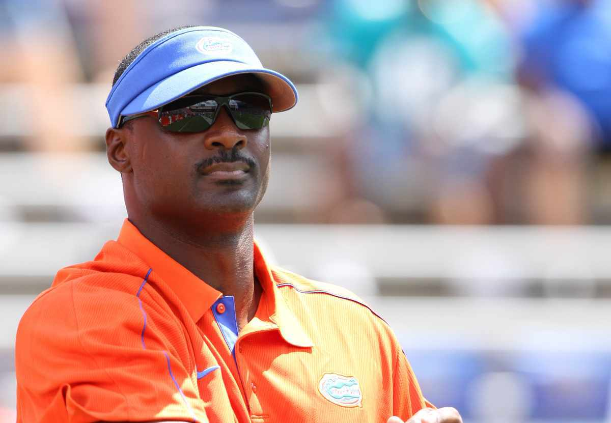 Gators tight ends coach Derek Lewis / Gator Country photo by Curtiss Bryant