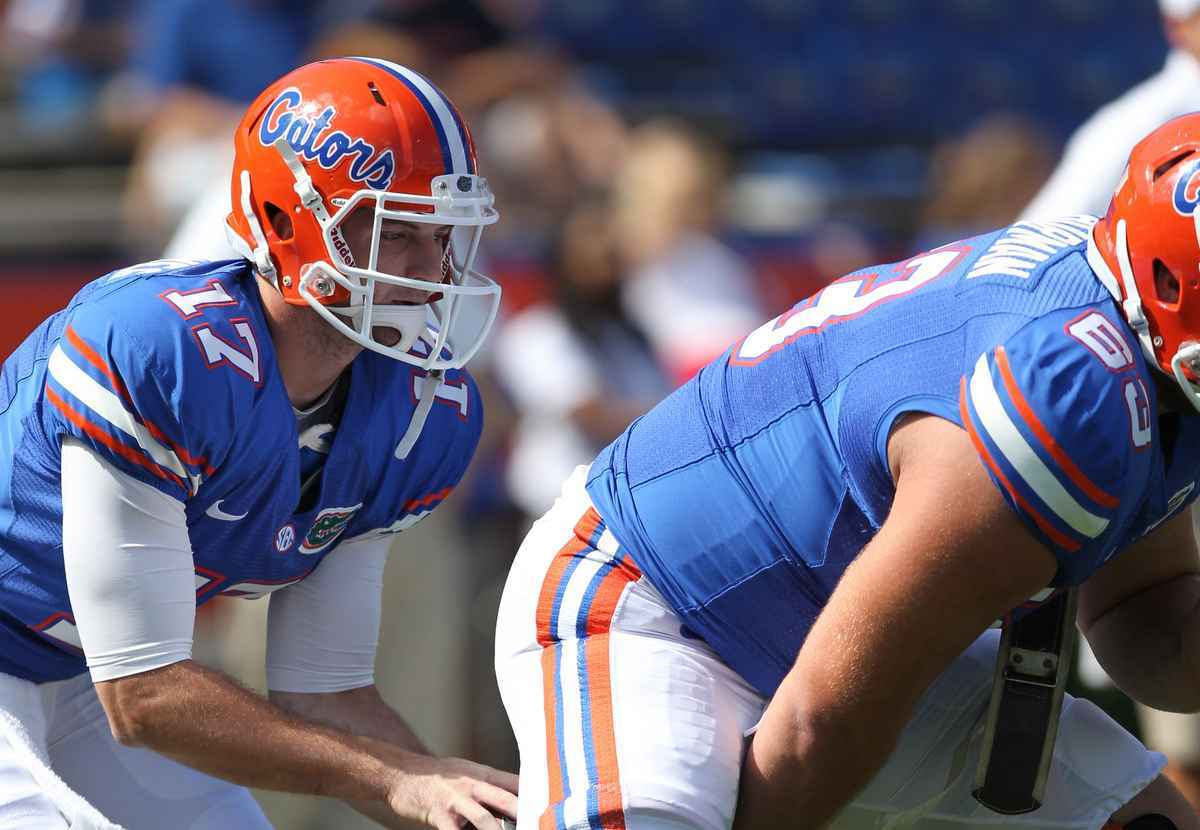 Skyler Mornhinweg could find himself thrust into the spotlight Saturday when the Gators travel to South Carolina  / Gator Country photo by Curtiss Bryant