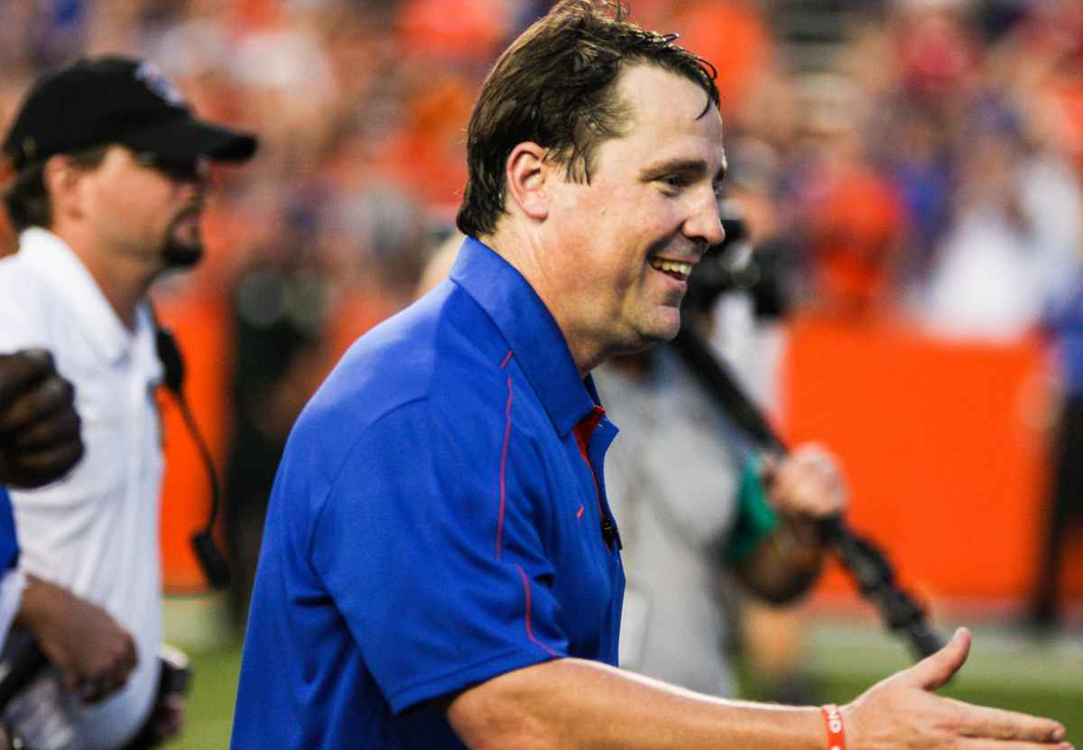 Florida coach Will Muschamp and the Gators will face their first Big East opponent since 2010 in Wednesday's Sugar Bowl. / Gator Country photo by Wes Hall