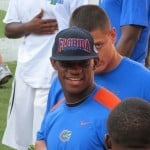 NIck Washington during Florida's Friday Night Lights camp on July 27, 2012. / Gator Country photo by Mike Capshaw
