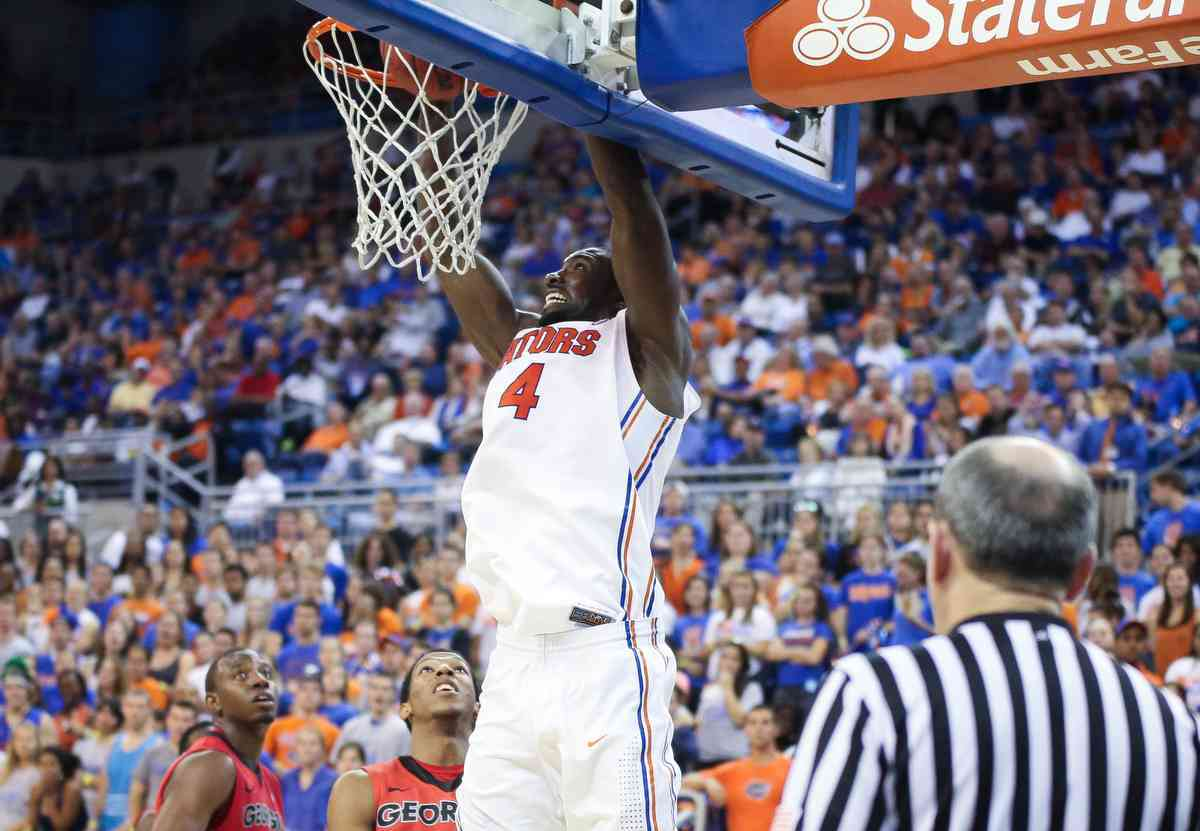 Patric Young reached the 1,000 point plateau for his Florida career Sunday against Savannah State / Gator Country photo by Curtiss Bryant