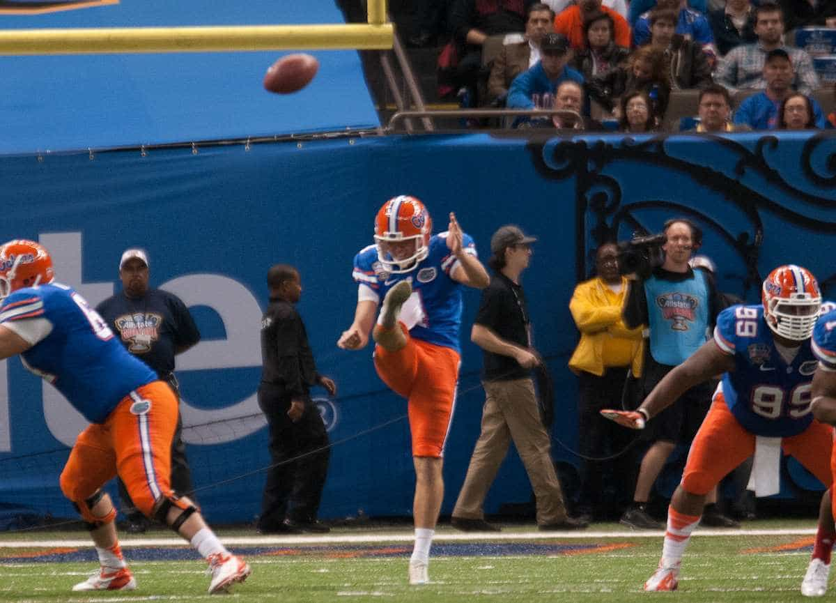 Florida's Kyle Chirsty during the Gators' 33-23 loss against the Louisville Cardinals Wednesday Jan. 2, 2013 at the Mercedes-Benz Superdome in New Orleans, La. / Gator Country photo by Saj Guevara