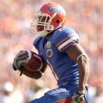 Former Gators receiver Percy Harvin helped make Florida's 2006 recruiting class one of the most successful in school history. / Gator Country file photo by Tim Casey