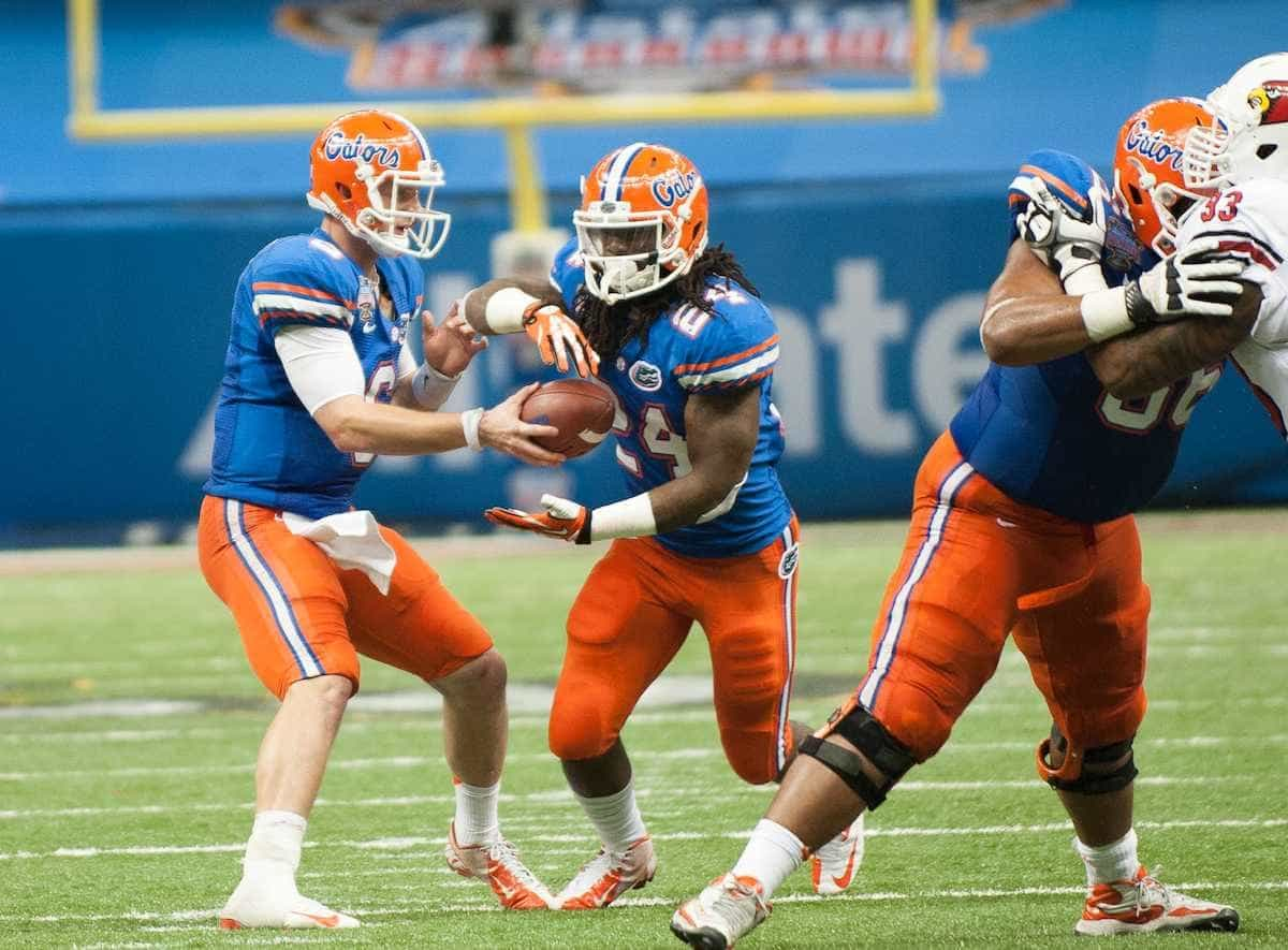Florida's Matt Jones during the Gators' 33-23 loss against the Louisville Cardinals Wednesday January 2, 2013 at the Mercedes-Benz Superdome in New Orleans, LA. / Gator Country photo by Saj Guevara