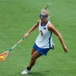 Gators senior attacker Caroline Chesterman tied for a team-high three goals in Florida's 13-7 road win at High Point on Sunday. / Gator Country file photo by Mike Capshaw