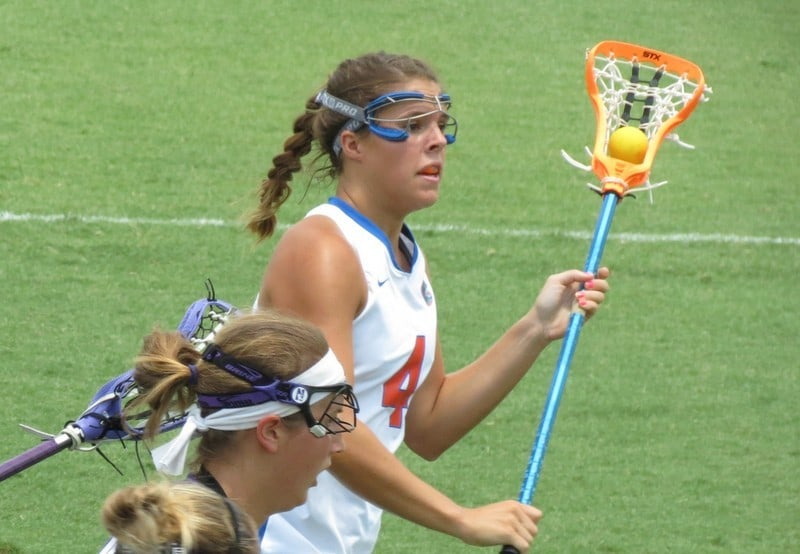 Gators senior attacker Kitty Cullen led Florida with five points in Wednesday's 16-9 home win against Stony Brook. / Gator Country file photo by Mike Capshaw