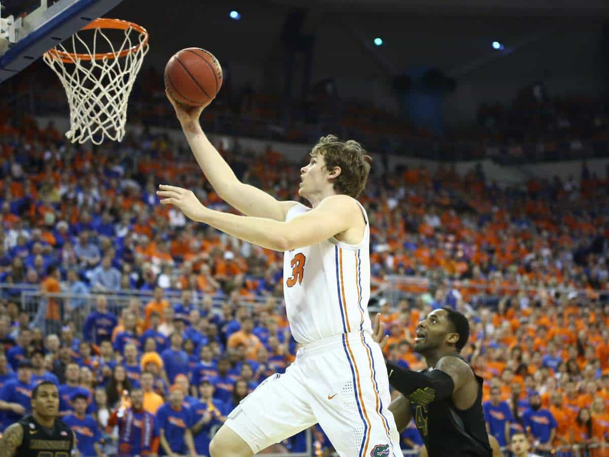 Erik Murphy scored a team-high 15 points in the Gators' 83-52 home win against Missouri on Jan. 19. / Gator Country photo by Curtiss Bryant