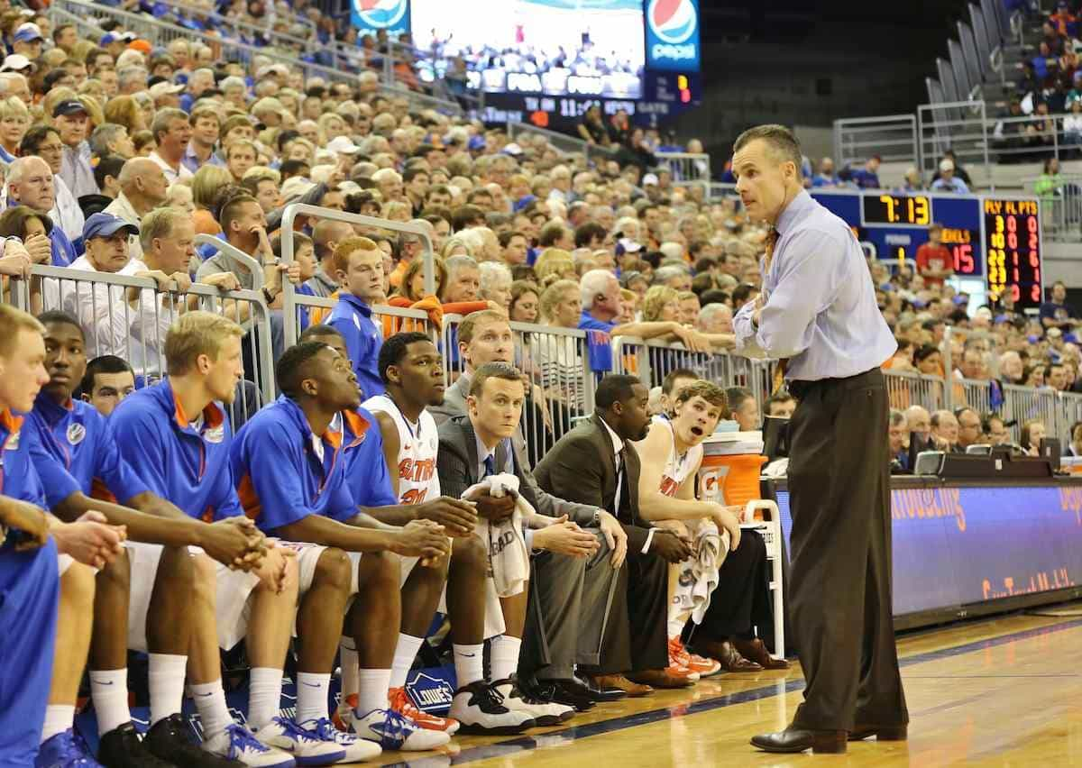 When Billy Donovan looks to the bench Friday he won't have many options / Gator Country photo by John Parady