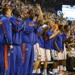 Damontre Harris (third from left) will not play this season / Gator Country file photo by John Parady