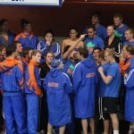 Florida's swimming and diving teams / Gator Country photo by Curtiss Bryant