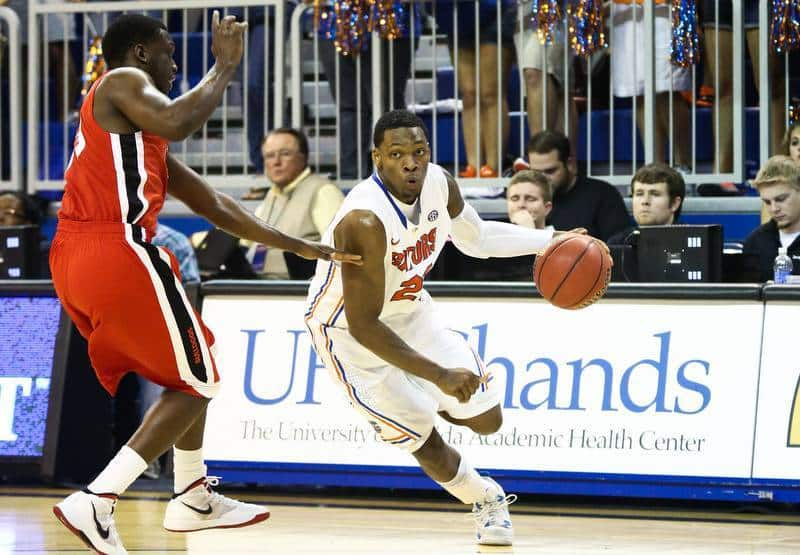 Michael Frazier will be one of Florida's options at point guard against Middle Tennessee State / Gator Country photo by Curtiss Bryant