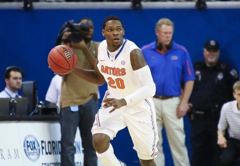 Michael Frazier came off the bench to score 20 points in the Gators' loss to Wisconsin  / Gator Country photo by Curtiss Bryant