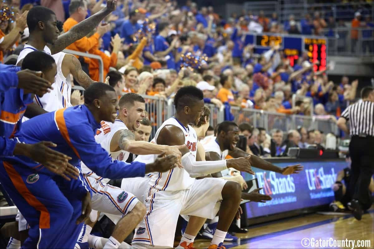 Will Yeguete during the Gators 83-52 win over Missouri on January 19, 2013 at the Stephen C O'Connell Center. \ Gator Country photo by Curtiss Bryant