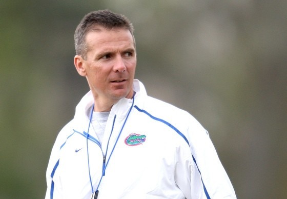 Former Gators coach Urban Meyer led the Ohio State Buckeyes to a 12-0 record in his first season at the helm in Columbus. / Gator Country file photo by Tim Casey