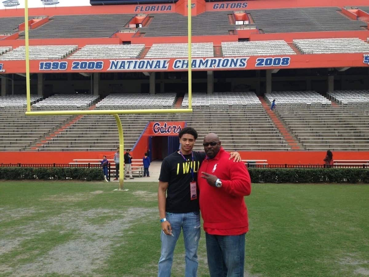 Columbia (S.C.) Spring Valley linebacker Christian Miller committed to Florida during junior day. / Courtesy photo