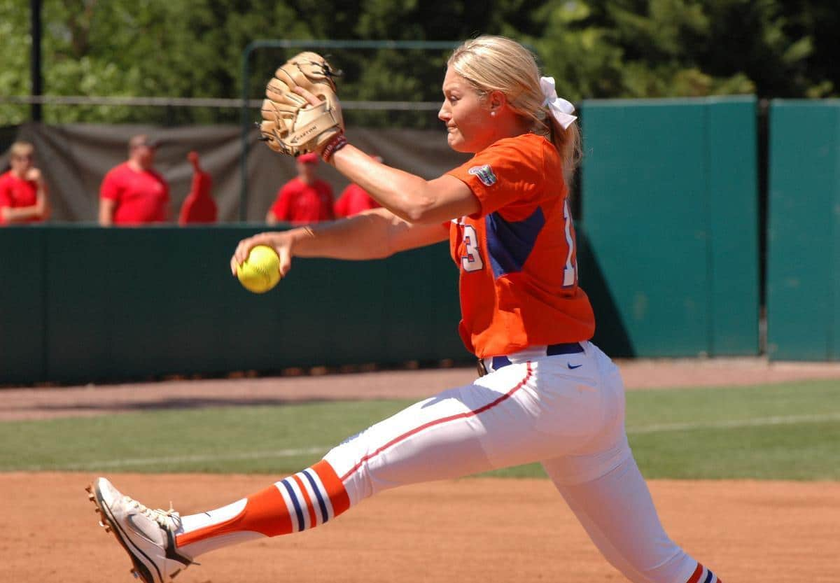 Gators junior pitcher Hannah Rogers led Florida with 28 wins last season. / Gator Country file photo by Jack Lewis