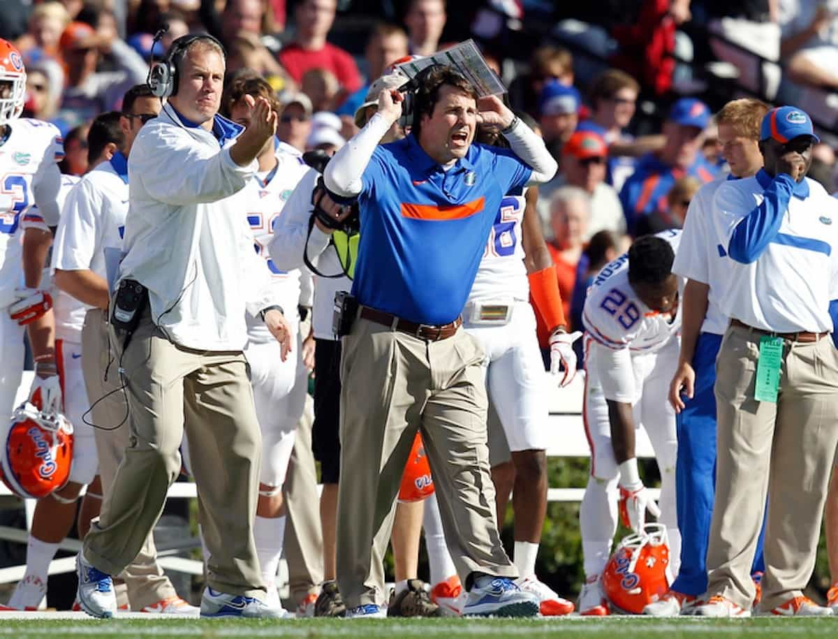 Florida coach Will Muschamp during the third quarter of the Gators' 17-12 loss to the South Carolina Gamecocks on Saturday, November 12, 2011 at Williams-Brice Stadium in Columbia, S.C. / Gator Country photo by Tim Casey
