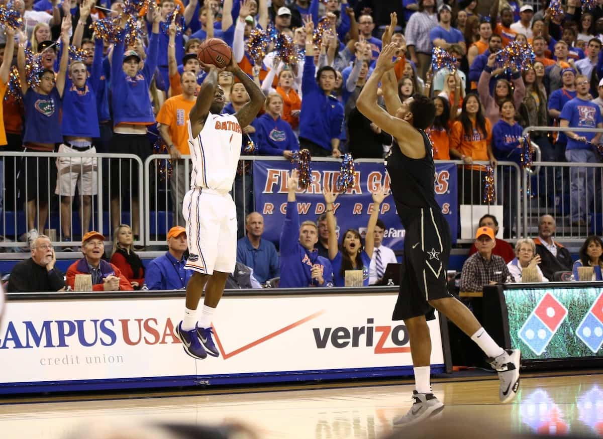 Florida Gators' senior Kenny Boynton takes an open shot against Vanderbilt. \Gator Country photo courtesy of Curtiss Bryant.