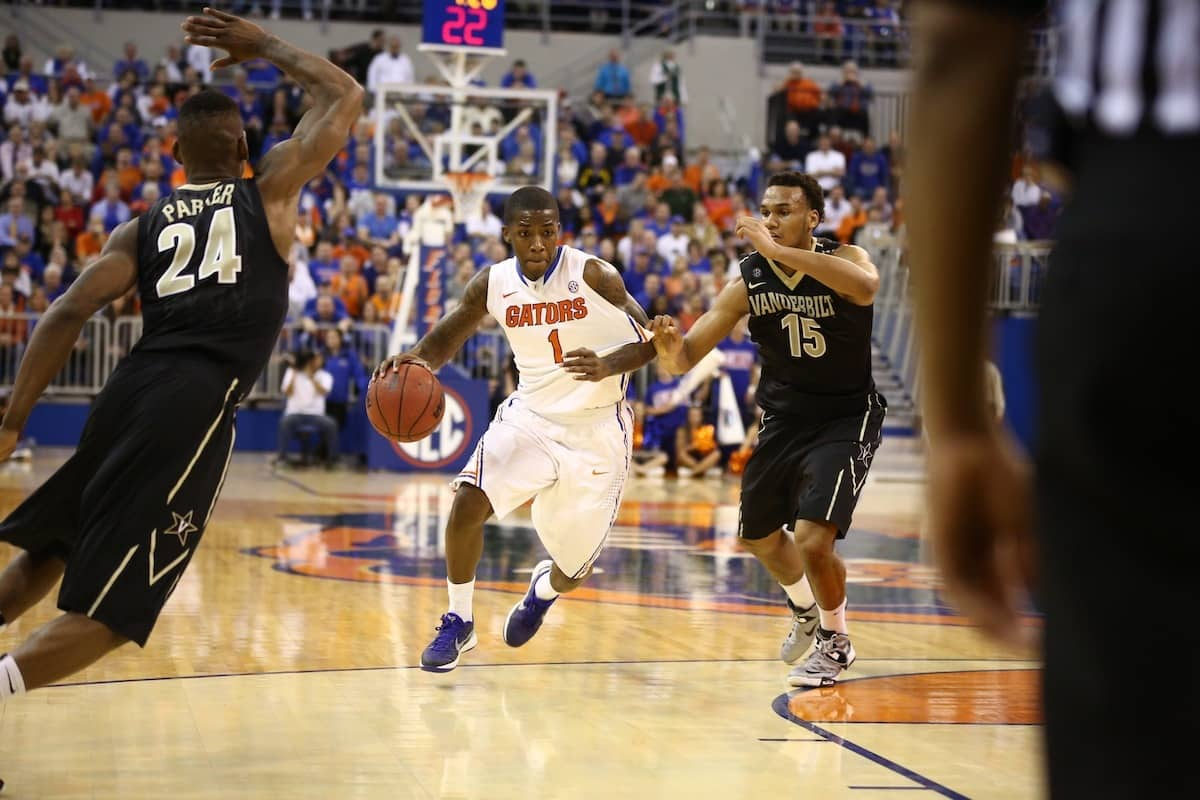 Florida Gators Kenny Boynton during Florida's 66-40 win over the Vanderbilt Commodores. Gator Country photo by Curtiss Bryant.
