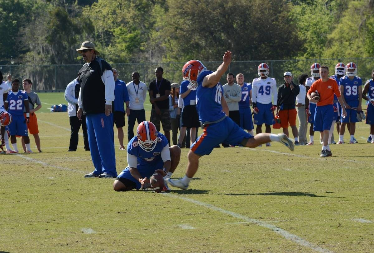 Florida Gator's kicker Austin Hardin photo courtesy of Jack Lewis.