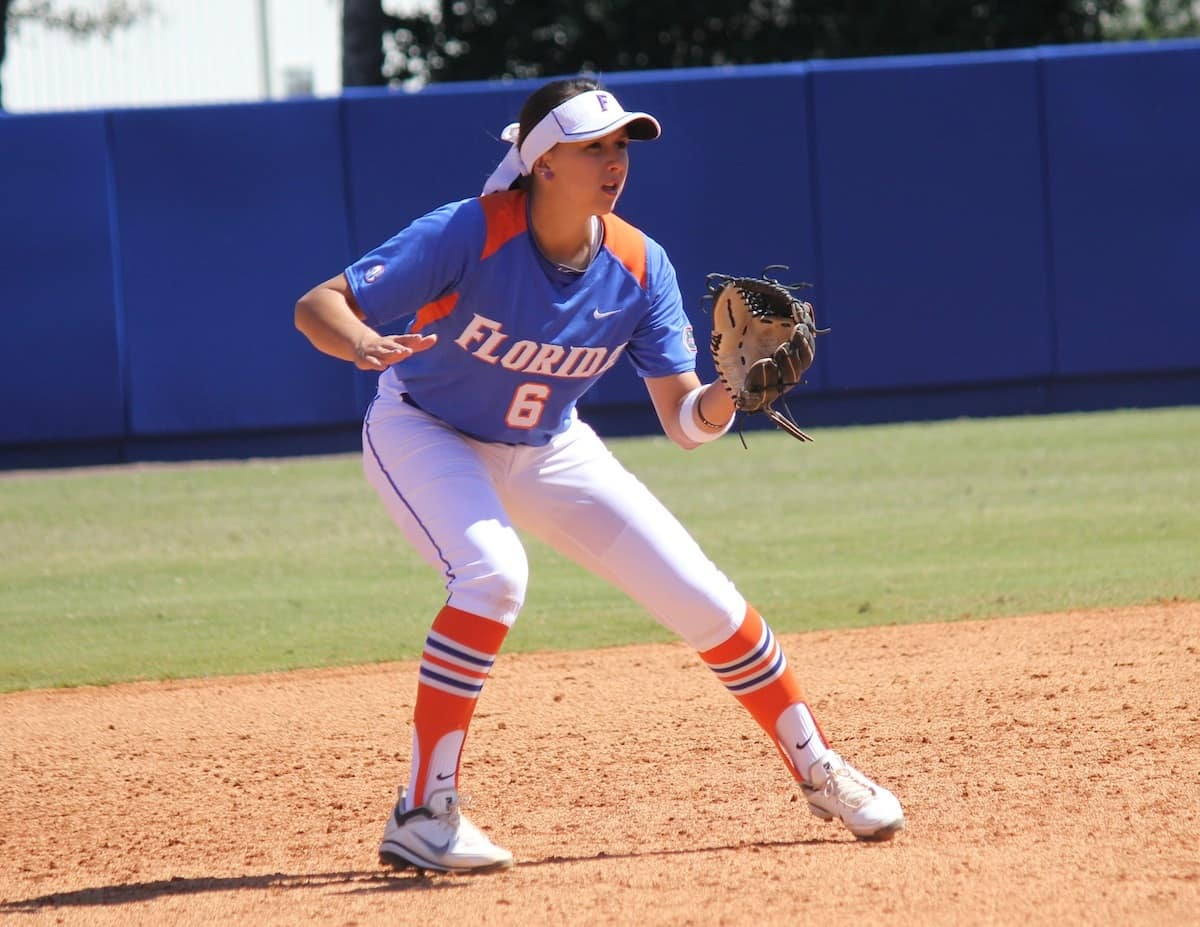 Gator shortstop Kathlyn Medina. \Gator Country photo by Danielle Bloch.
