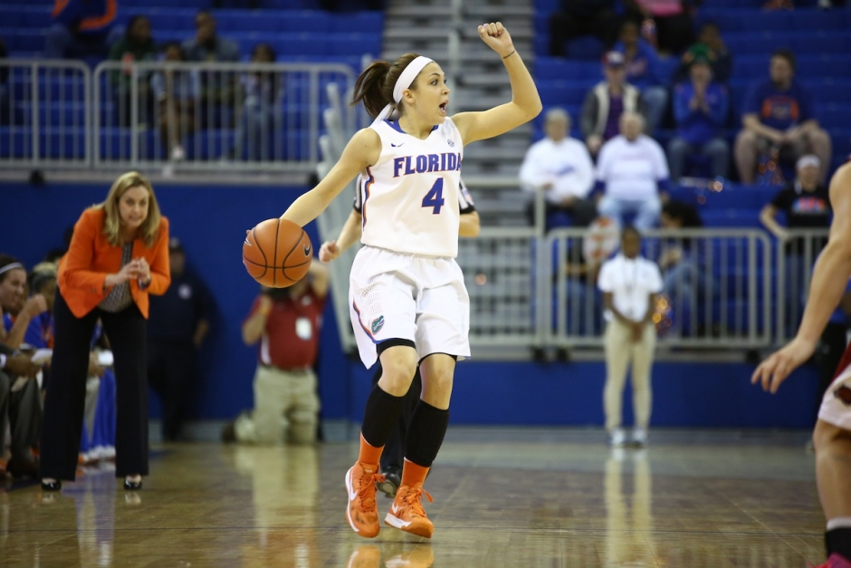 Florida Gators women's basketball player Carly Needles