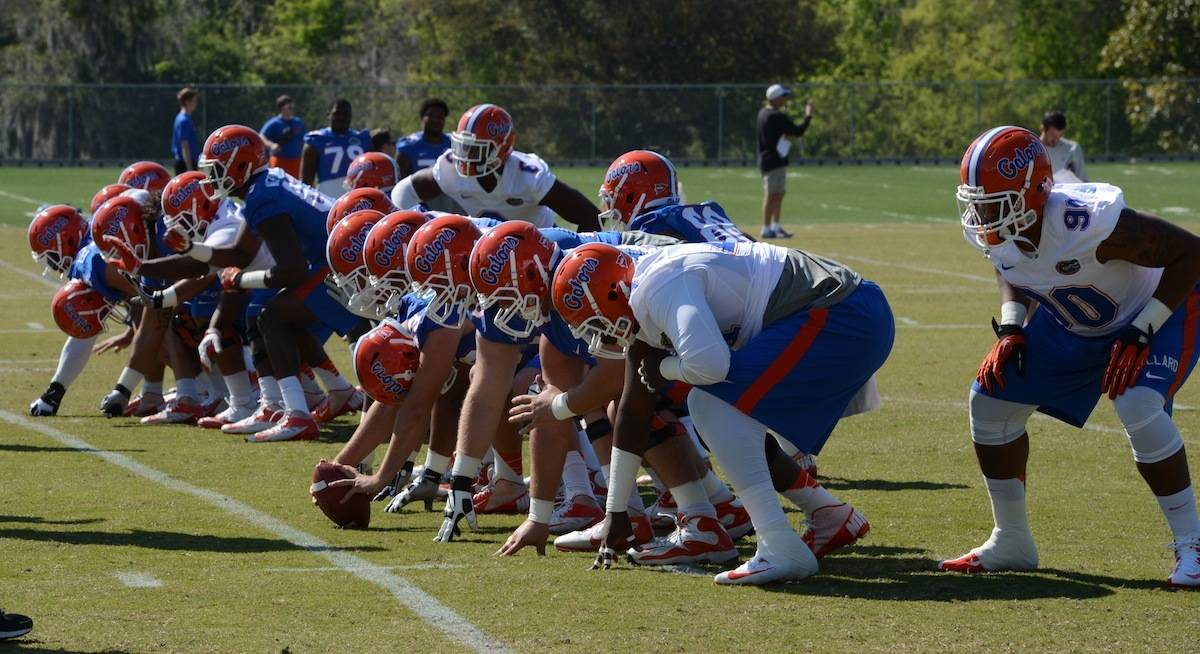 Oline_03152013_JackLewis_Florida_Gators_Football
