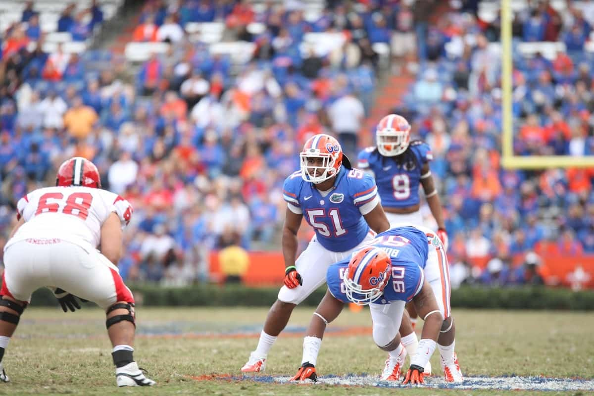Florida Gators linebacker Michael Taylor during Florida's win over Jacksonville State in 2012.