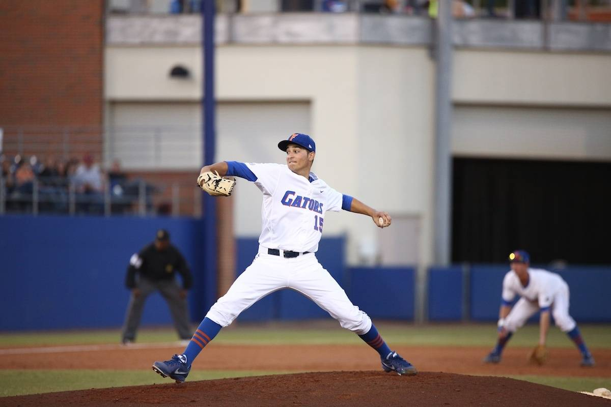 Florida Gators pitcher Danny Young. \Gator Country photo by Curtiss Bryant.