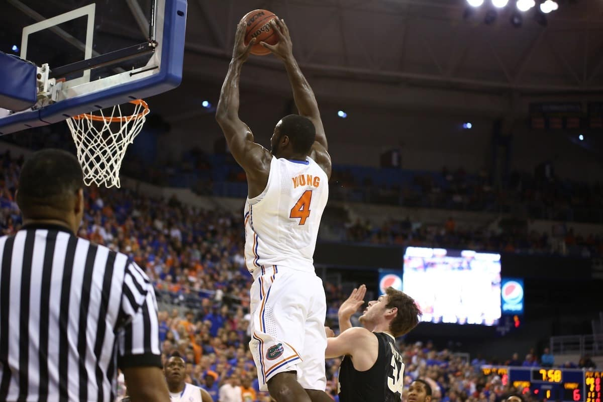Patric Young had a great second half but it wasn't enough for Florida to knock off UConn / Gator Country photo by Curtiss Bryant.