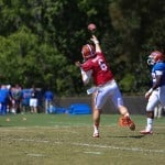 Jeff Driskel attempts a pass during spring practice.