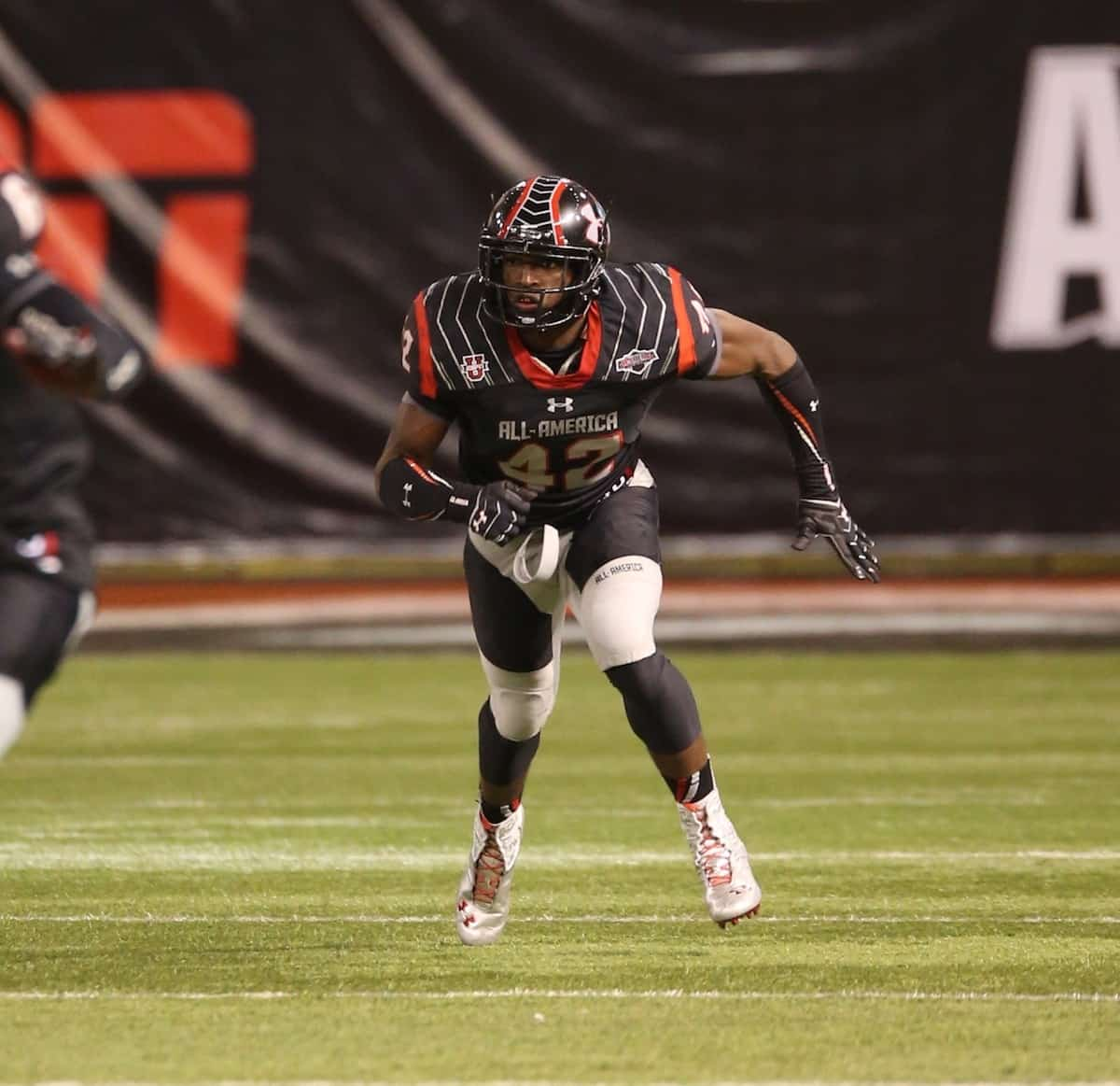 New Florida Gator Keanu Neal at the Under Armour All-American game. \Gator Country photo courtesy of Curtiss Bryant.