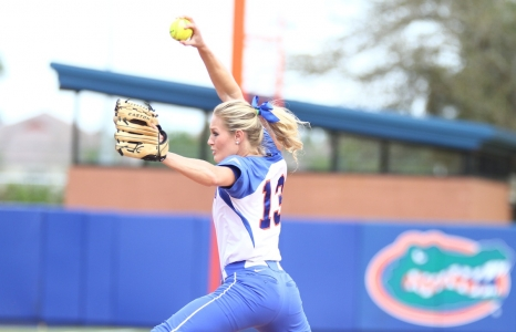 Gator softball wins four on wet weekend
