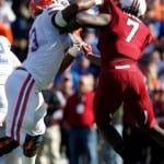 The Gators will have to account for South Carolina's Jadeveon Clowney (7) on every play.