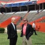 Steve Spurrier and Governor Rick Scott.  Photo By: Nick de la Torre