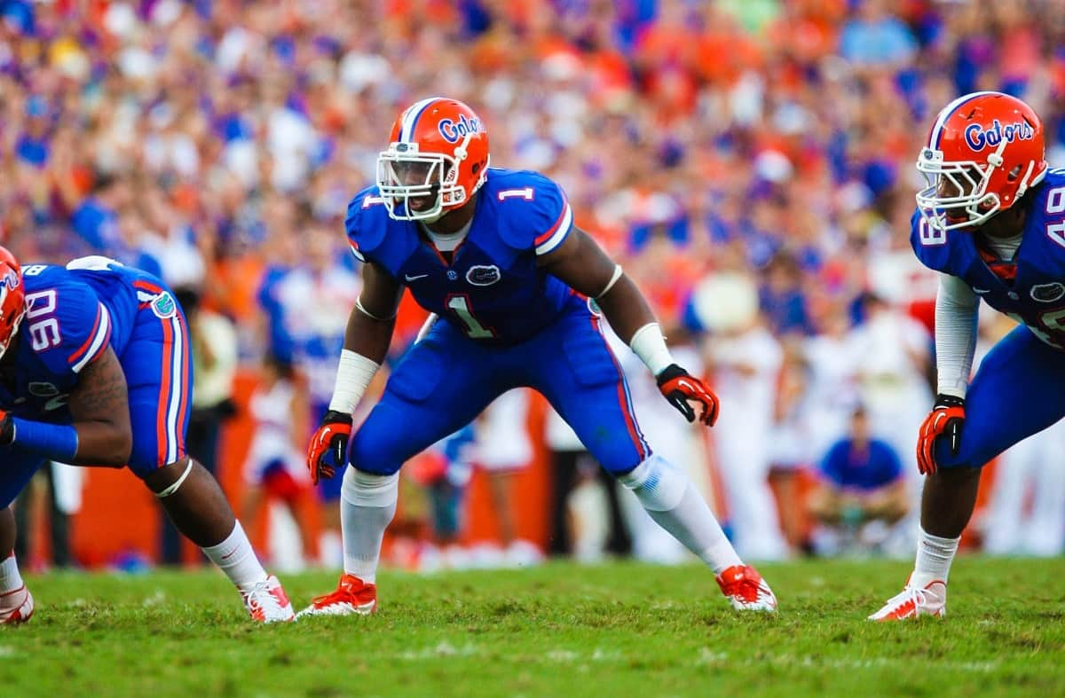 Florida Gator linebacker Jon Bostic against the LSU Tigers.