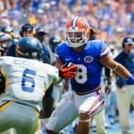 Trey Burton (8) could come up big in the passing game against Missouri / Gator Country photo by David Bowie.