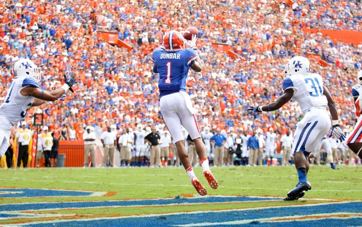 Quinton Dunbar could catch as many passes in 2014 as he has caught in his entire Florida career / Gator Country Photo by David Bowie
