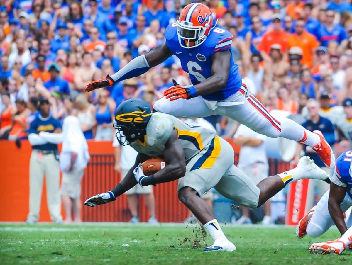 Dante Fowler is perhaps the most high profile recruit that Will Muschamp has flipped  / Gator Country photo by David Bowie.